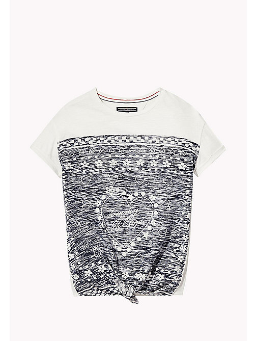 TOMMY HILFIGER Printed Knot T-Shirt - BRIGHT WHITE -  Tops & T-shirts - main image