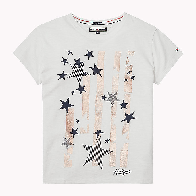TOMMY HILFIGER Star Print T-Shirt - PAPAYA PUNCH - TOMMY HILFIGER Kids - main image