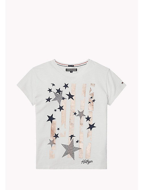 TOMMY HILFIGER Star Print T-Shirt - BRIGHT WHITE - TOMMY HILFIGER Girls - main image