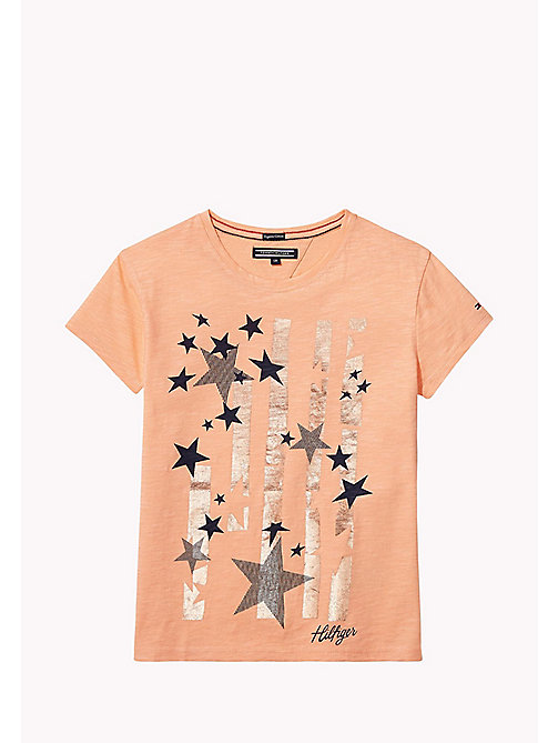 TOMMY HILFIGER Star Print T-Shirt - PAPAYA PUNCH -  Tops & T-shirts - main image