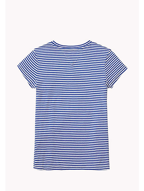 TOMMY HILFIGER Stripe Logo T-Shirt - NAUTICAL BLUE - TOMMY HILFIGER Tops & T-shirts - detail image 1