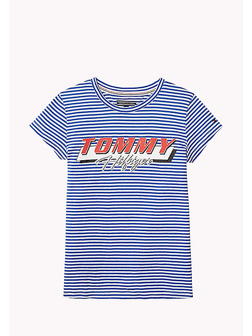 TOMMY HILFIGER Stripe Logo T-Shirt - NAUTICAL BLUE - TOMMY HILFIGER Tops & T-shirts - main image