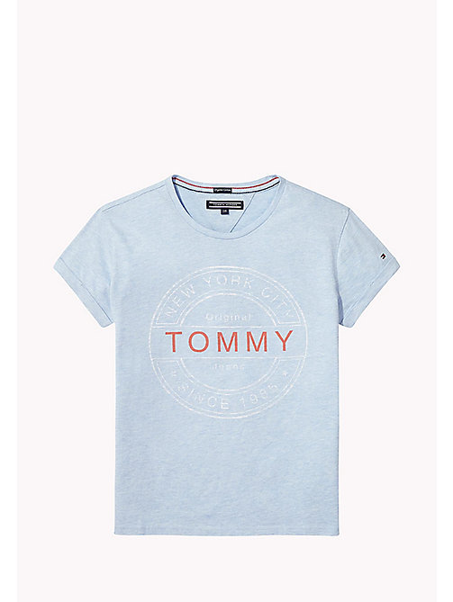 TOMMY HILFIGER Logo Regular Fit Top - ALLURE HEATHER - TOMMY HILFIGER Tops & T-shirts - main image