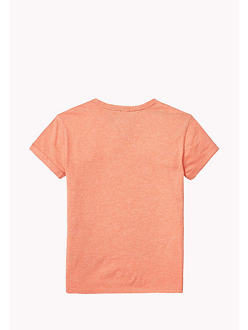TOMMY HILFIGER Logo Regular Fit Top - SPICED CORAL HEATHER - TOMMY HILFIGER Girls - detail image 1