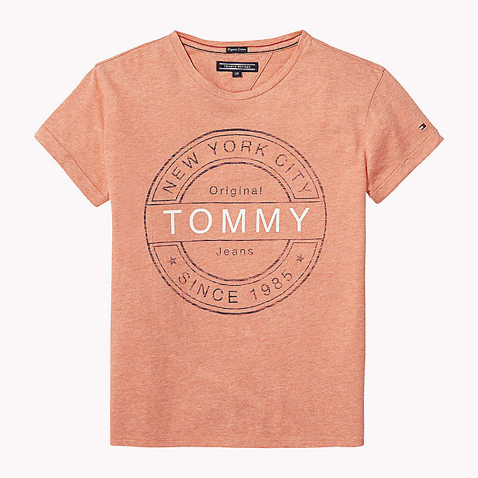 TOMMY HILFIGER Regular Fit Top mit Logo - ALLURE HEATHER - TOMMY HILFIGER Kinder - main image