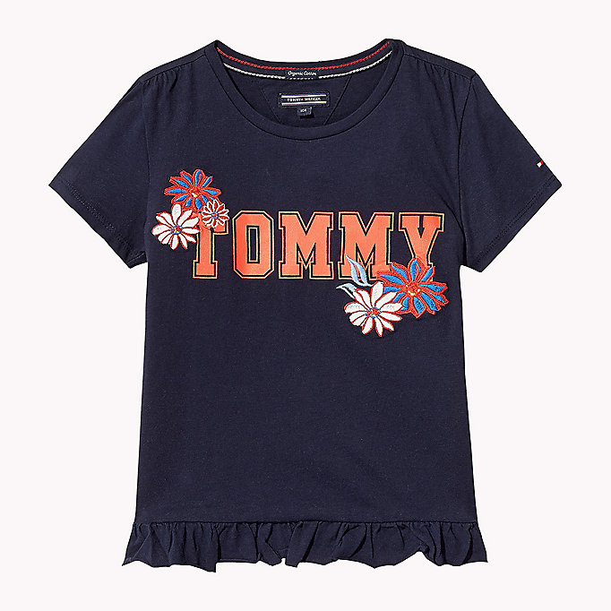 TOMMY HILFIGER Animated Flower T-Shirt - BRIGHT WHITE - TOMMY HILFIGER Kids - main image