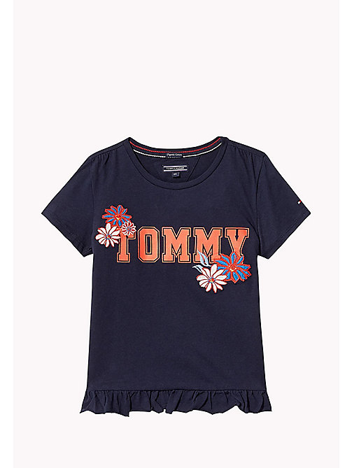 TOMMY HILFIGER Animated Flower T-Shirt - BLACK IRIS -  Tops & T-shirts - main image