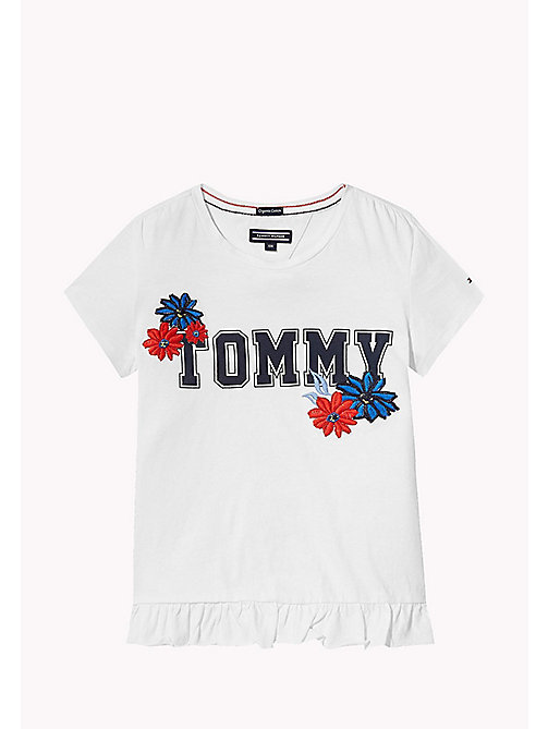 TOMMY HILFIGER Animated Flower T-Shirt - BRIGHT WHITE - TOMMY HILFIGER Girls - main image