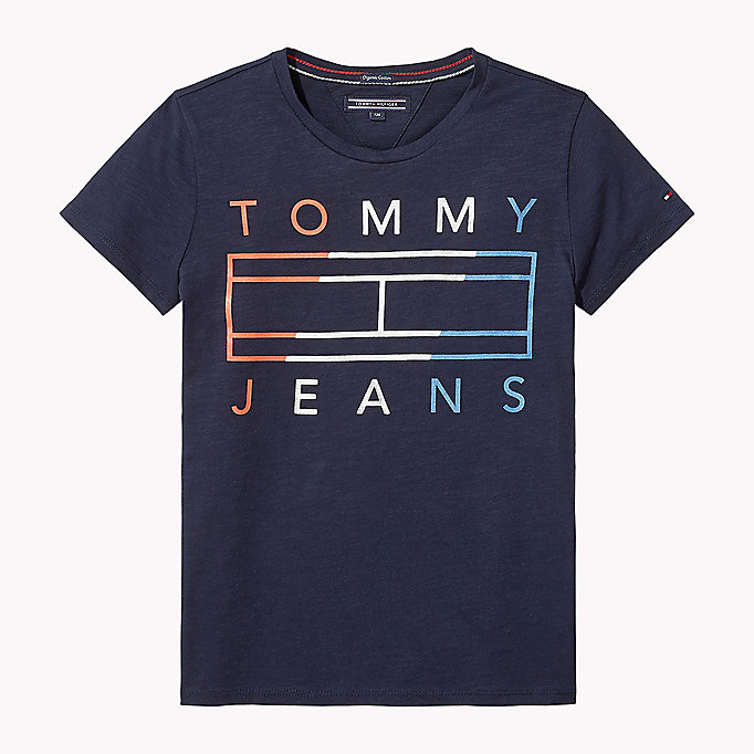 TOMMY HILFIGER Logo T-Shirt - BRIGHT WHITE - TOMMY HILFIGER Kinder - main image