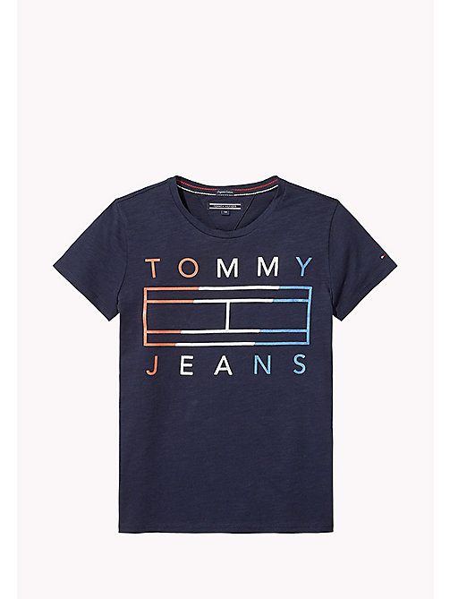 TOMMY HILFIGER Logo T-Shirt - BLACK IRIS -  Tops & T-shirts - main image
