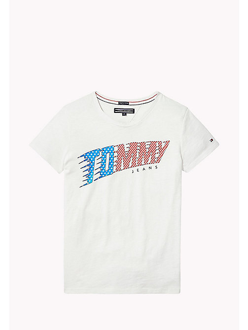 TOMMY HILFIGER Logo T-Shirt - BRIGHT WHITE -  Tops & T-shirts - main image
