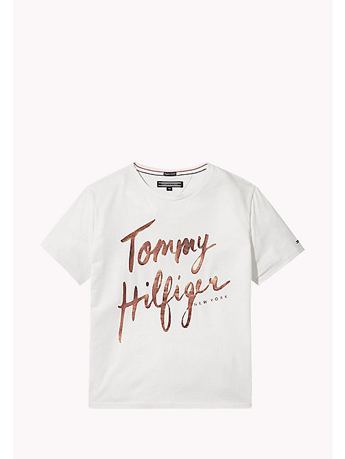 TOMMY HILFIGER Foil Print T-Shirt - BRIGHT WHITE - TOMMY HILFIGER Tops & T-shirts - main image