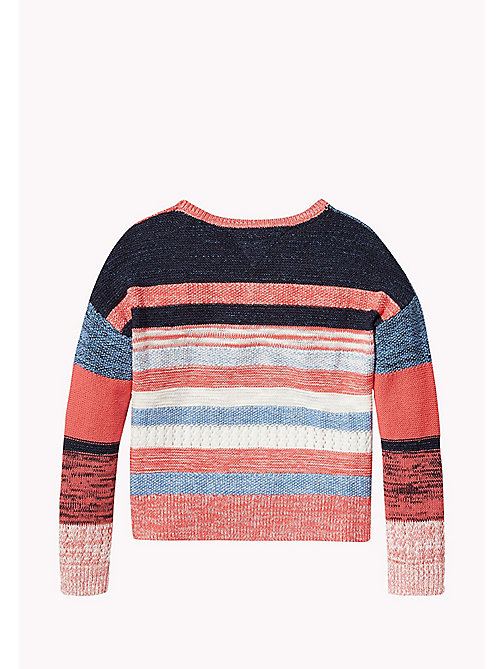 TOMMY HILFIGER Multi-Stripe Star Jumper - SPICED CORAL - TOMMY HILFIGER Girls - detail image 1