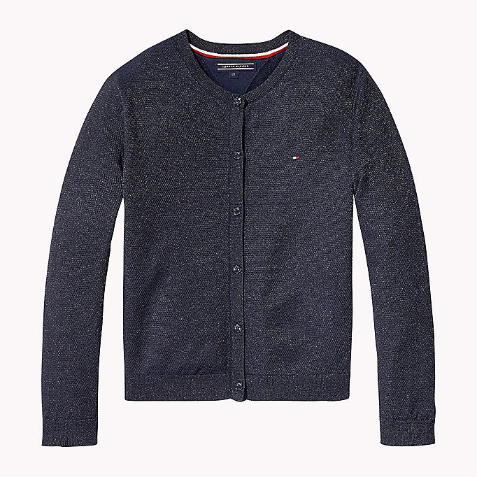 TOMMY HILFIGER Cardigan luccicante - FLAME SCARLET - TOMMY HILFIGER Bambini - immagine principale