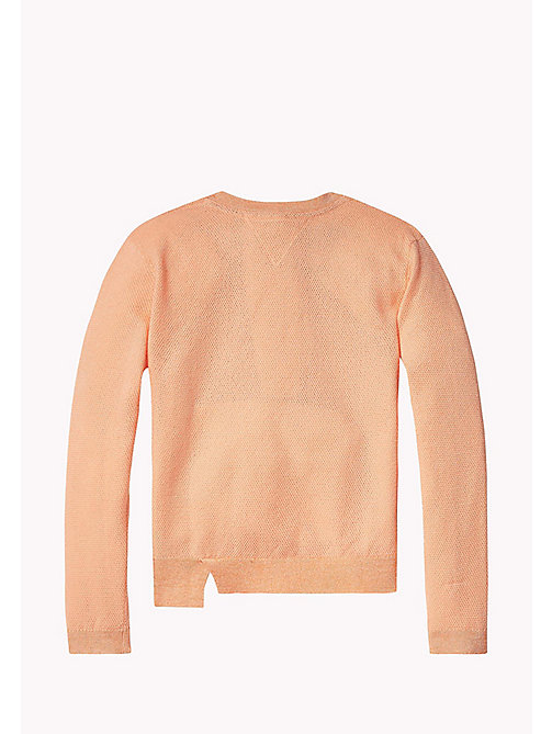 TOMMY HILFIGER Sparkly Crew Neck Jumper - PAPAYA PUNCH - TOMMY HILFIGER Трикотаж - подробное изображение 1