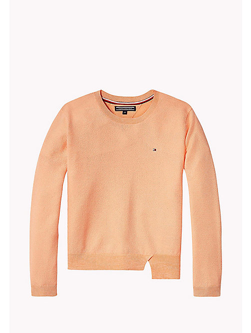 TOMMY HILFIGER Sparkly Crew Neck Jumper - PAPAYA PUNCH - TOMMY HILFIGER Jumpers & Cardigans - main image