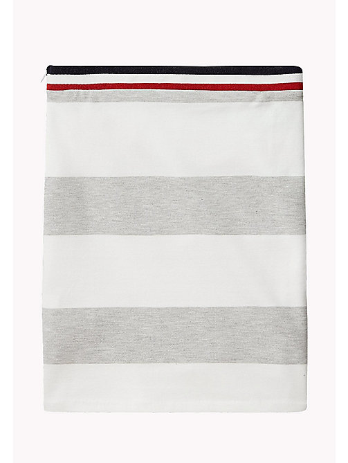 TOMMY HILFIGER Block Stripe Knit Skirt - LIGHT GREY HTR - TOMMY HILFIGER Trousers, Shorts & Skirts - detail image 1