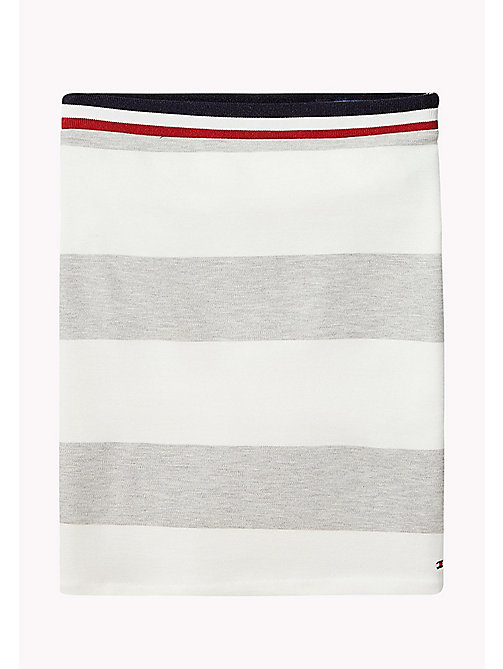 TOMMY HILFIGER Block Stripe Knit Skirt - LIGHT GREY HTR - TOMMY HILFIGER Trousers, Shorts & Skirts - main image