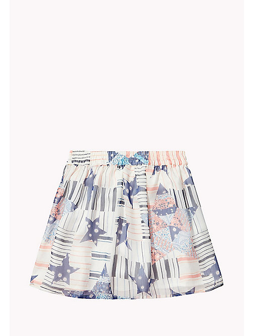 TOMMY HILFIGER Star Print Skirt - BRIGHT WHITE - TOMMY HILFIGER Girls - detail image 1