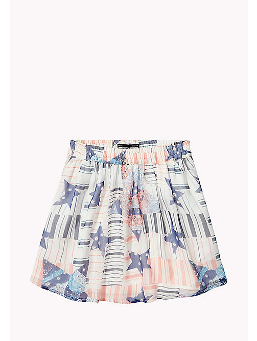 TOMMY HILFIGER Star Print Skirt - BRIGHT WHITE - TOMMY HILFIGER Girls - main image
