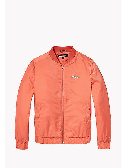 TOMMY HILFIGER Bright Bomber Jacket - SPICED CORAL - TOMMY HILFIGER Girls - detail image 1