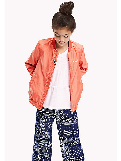 TOMMY HILFIGER Bright Bomber Jacket - SPICED CORAL - TOMMY HILFIGER Girls - main image