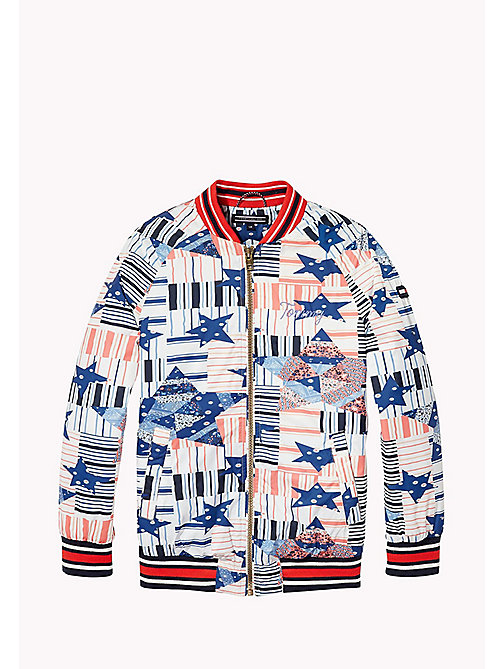 TOMMY HILFIGER Patchwork Star Bomber Jacket - MARSHMALLOW - TOMMY HILFIGER Girls - detail image 1