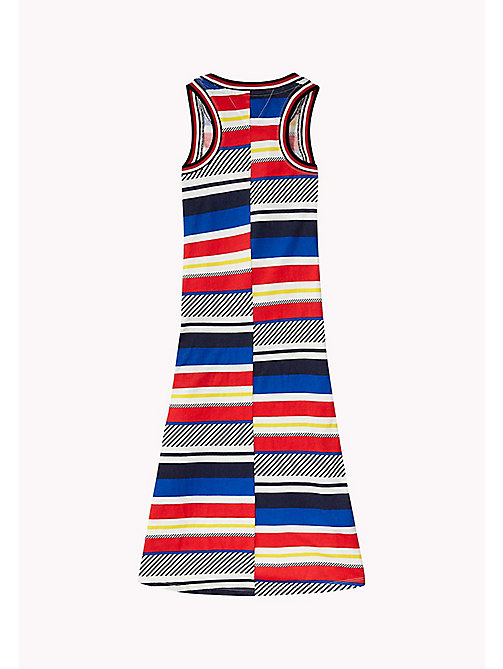 TOMMY HILFIGER Stripe Sleeveless Maxi Dress - BLACK IRIS - TOMMY HILFIGER Girls - detail image 1