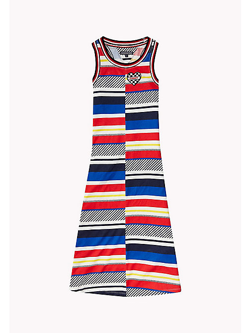TOMMY HILFIGER Stripe Sleeveless Maxi Dress - BLACK IRIS - TOMMY HILFIGER Girls - main image