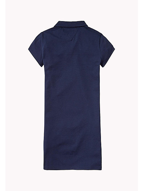 TOMMY HILFIGER Bold Polo Dress - BLACK IRIS - TOMMY HILFIGER Girls - detail image 1