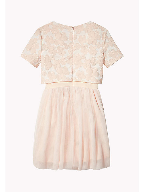 TOMMY HILFIGER Layered Jacquard Occasion Dress - PETAL PINK - TOMMY HILFIGER Dresses - detail image 1