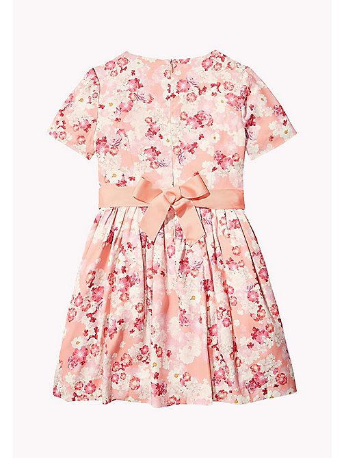 TOMMY HILFIGER Vintage Flower Print Dress - BURNT CORAL - TOMMY HILFIGER Dresses - detail image 1