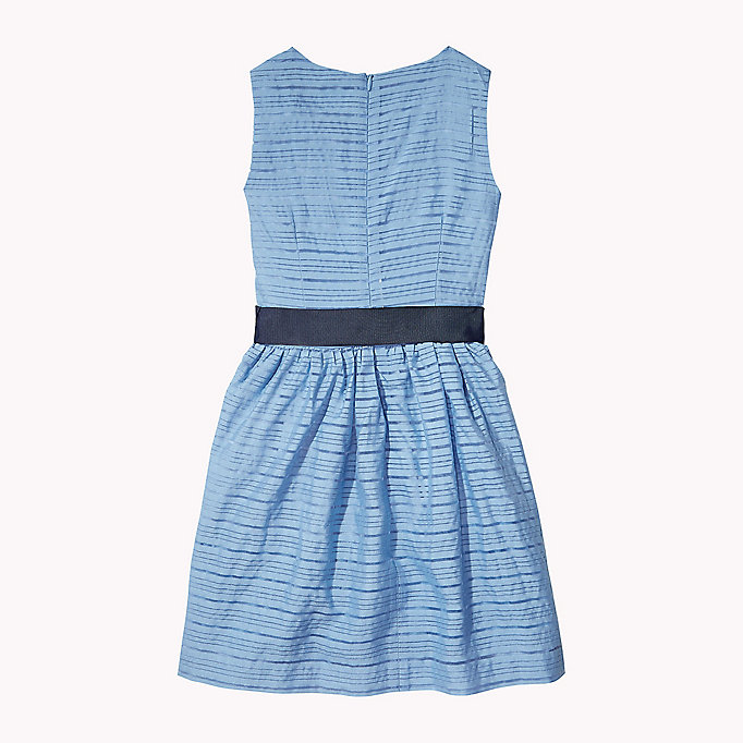 TOMMY HILFIGER Stripe Organza Bow Dress - PAPAYA PUNCH - TOMMY HILFIGER Kids - detail image 1