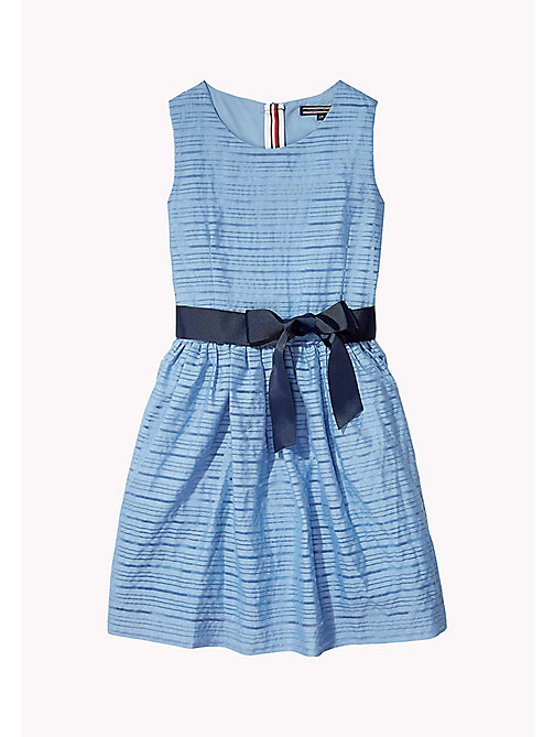 TOMMY HILFIGER Stripe Organza Bow Dress - ALLURE - TOMMY HILFIGER Dresses - main image