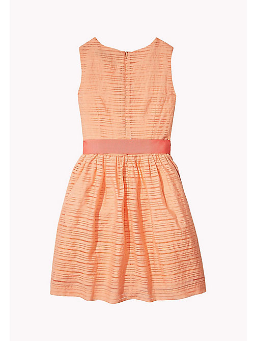 TOMMY HILFIGER Stripe Organza Bow Dress - PAPAYA PUNCH - TOMMY HILFIGER Dresses - detail image 1