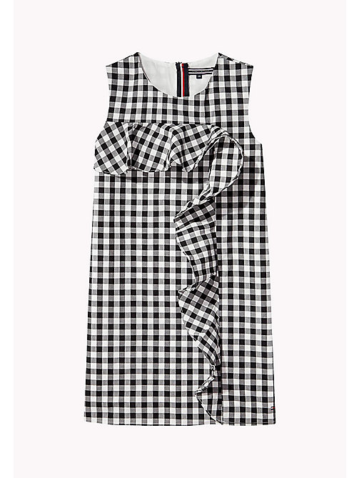 TOMMY HILFIGER Gingham Ruffle Dress - TOMMY BLACK - TOMMY HILFIGER Dresses - detail image 1