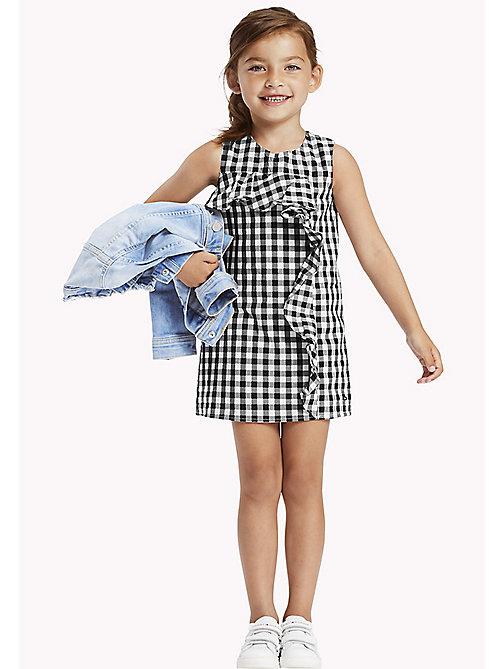 TOMMY HILFIGER Gingham Ruffle Dress - TOMMY BLACK - TOMMY HILFIGER Dresses - main image