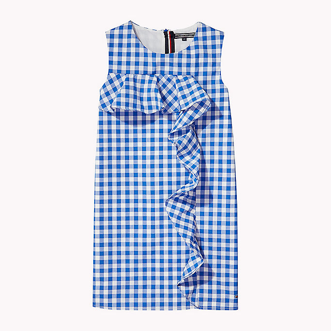 TOMMY HILFIGER Gingham Ruffle Dress - TOMMY BLACK - TOMMY HILFIGER Kids - main image