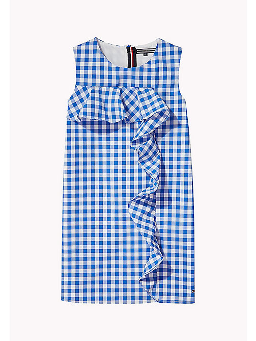 Gingham Ruffle Dress - NAUTICAL BLUE - TOMMY HILFIGER Mädchen - main image