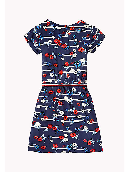 TOMMY HILFIGER Playful Floral Dress - BLACK IRIS - TOMMY HILFIGER Girls - detail image 1