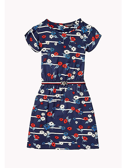 TOMMY HILFIGER Playful Floral Dress - BLACK IRIS - TOMMY HILFIGER Girls - main image