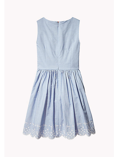 TOMMY HILFIGER Heart and Star Embroidered Dress - BRIGHT COBALT - TOMMY HILFIGER Girls - main image 1