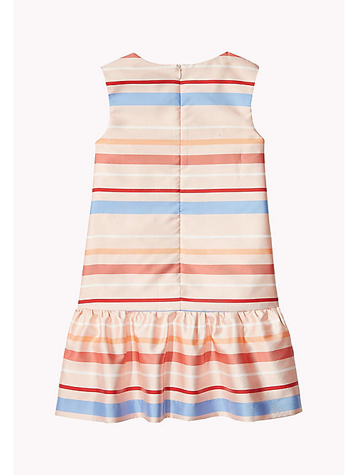 TOMMY HILFIGER Stripe Satin Dress - CLOUD PINK - TOMMY HILFIGER Dresses - detail image 1
