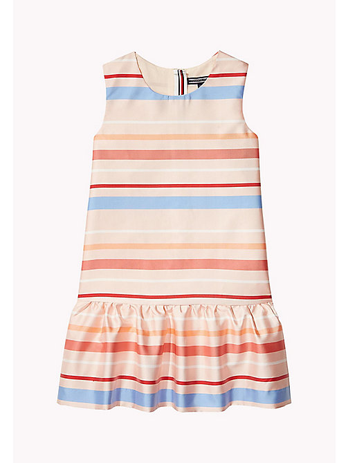 TOMMY HILFIGER Stripe Satin Dress - CLOUD PINK - TOMMY HILFIGER Girls - main image