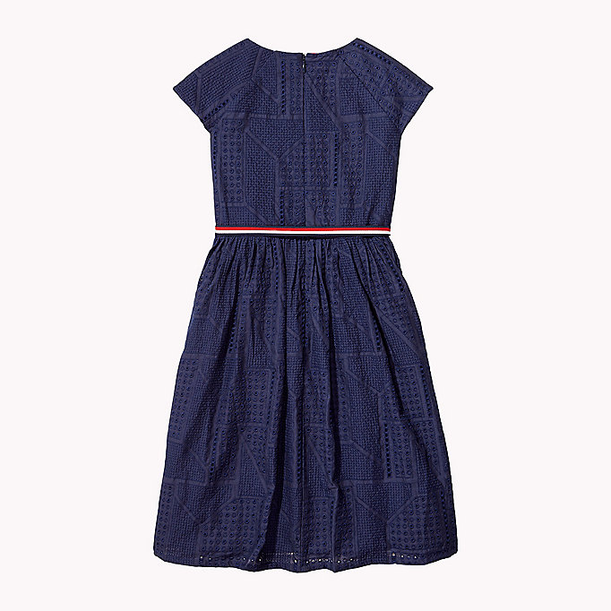 TOMMY HILFIGER Pretty Shiffley Embroidered Dress - FLAME SCARLET - TOMMY HILFIGER Kids - detail image 1