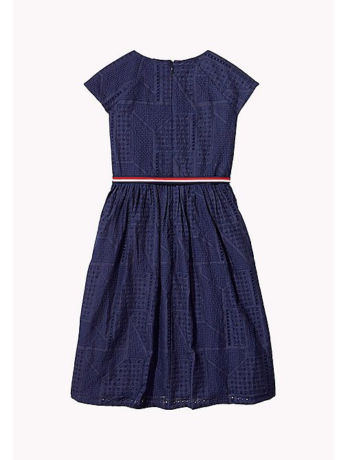 TOMMY HILFIGER Pretty Shiffley Embroidered Dress - BLACK IRIS - TOMMY HILFIGER Dresses - detail image 1