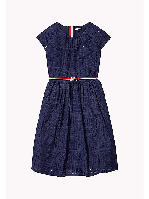 TOMMY HILFIGER Pretty Shiffley Embroidered Dress - BLACK IRIS - TOMMY HILFIGER Dresses - main image