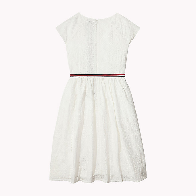 TOMMY HILFIGER Pretty Shiffley Embroidered Dress - BLACK IRIS - TOMMY HILFIGER Kids - detail image 1