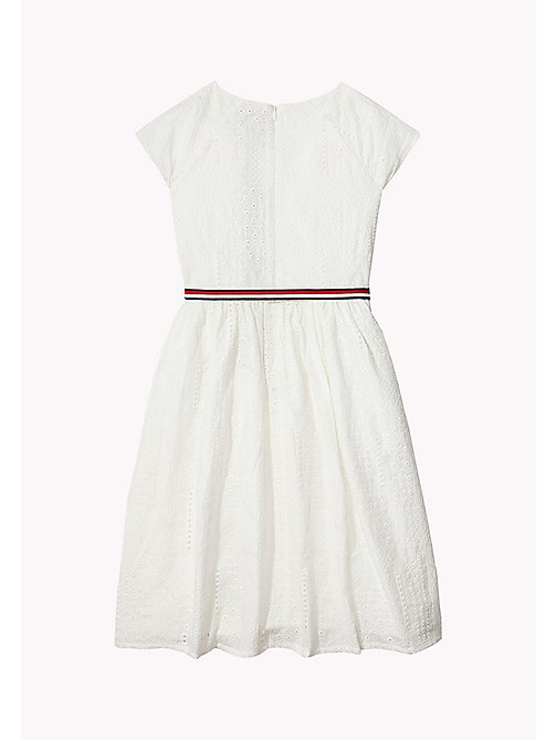TOMMY HILFIGER Pretty Shiffley Embroidered Dress - BRIGHT WHITE - TOMMY HILFIGER Dresses - detail image 1