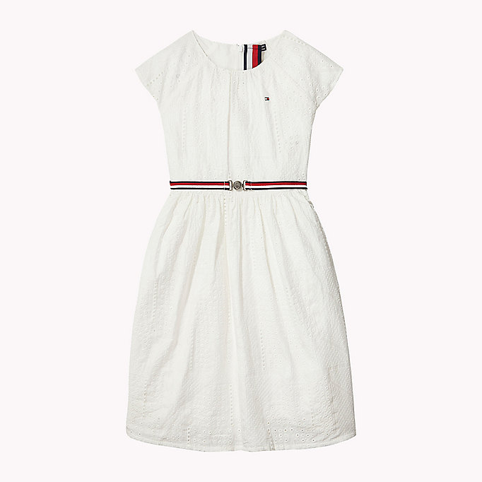 TOMMY HILFIGER Pretty Shiffley Embroidered Dress - BLACK IRIS - TOMMY HILFIGER Kids - main image